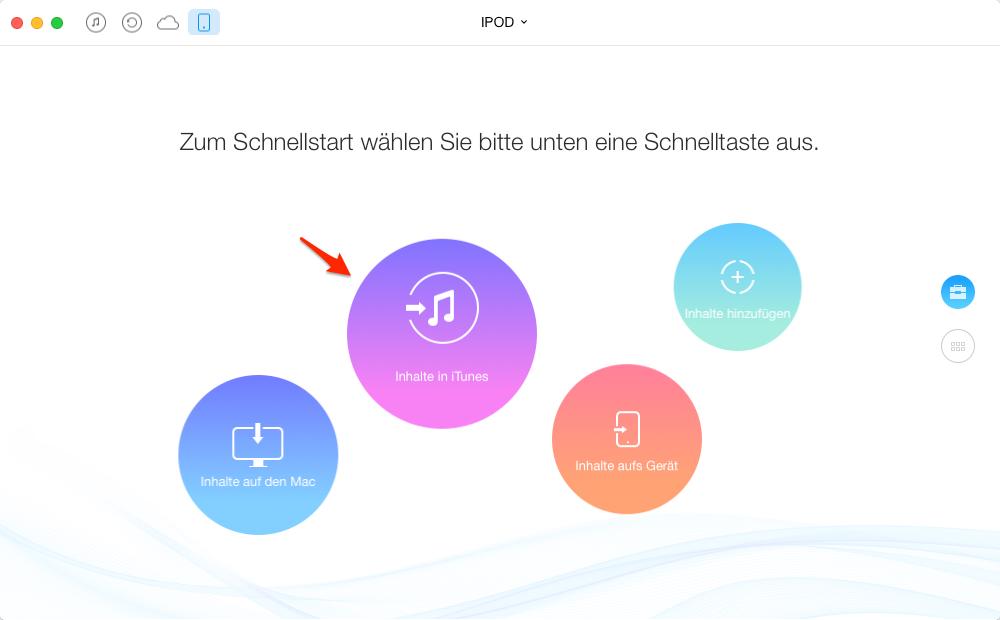 Alle Wiedergabeliste vom iPod auf iTunes übertragen – Schritt 2
