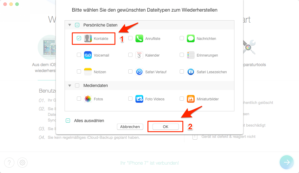 kontakte wiederherstellen iphone 6s
