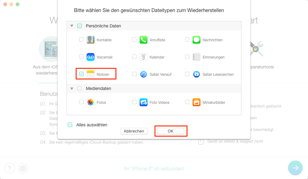 iphone 7 wiederherstellen