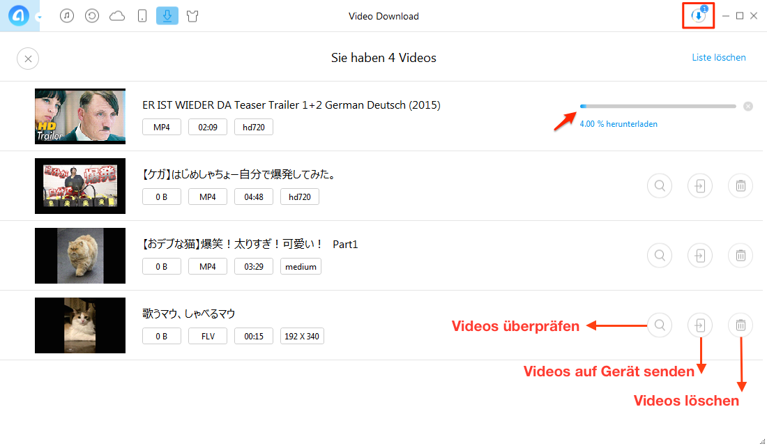 Schnell! YouTube Filme downloaden - Schritt 3