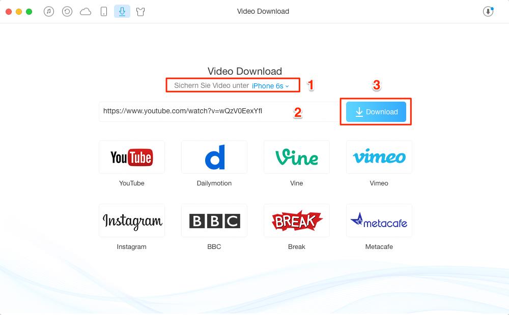 YouTube Videos Herunterladen – Schritt 2