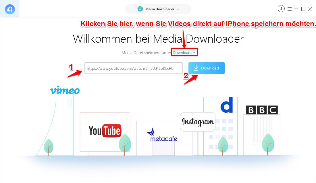 YouTube Videos auf iPhone speichern – Schritt 2