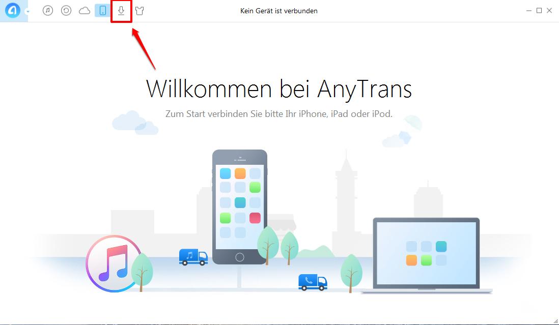 AnyTrans starten und Funktion für Video-Downloader auswählen – Schritt 1