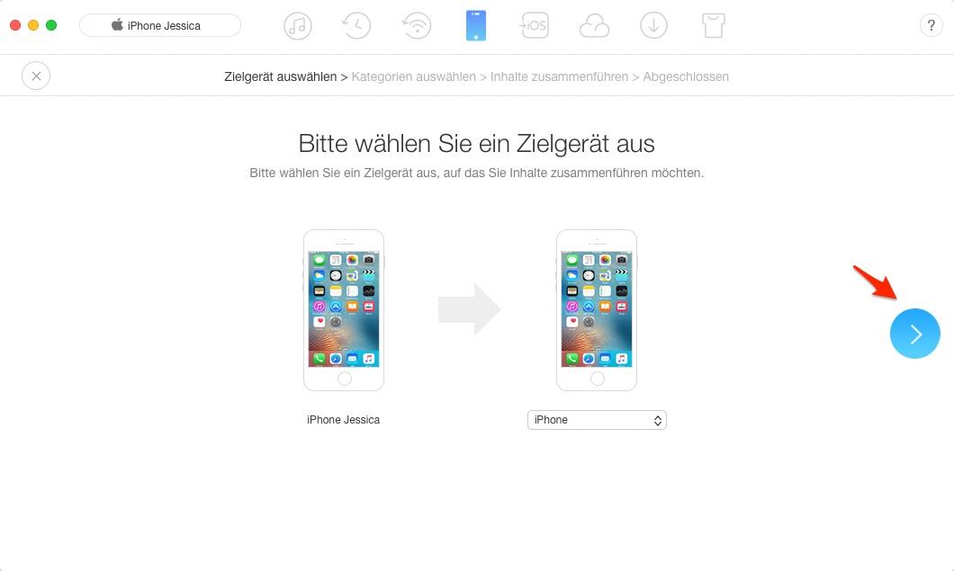 Zwei iPhones Backups zusammenführen – Schritt 3