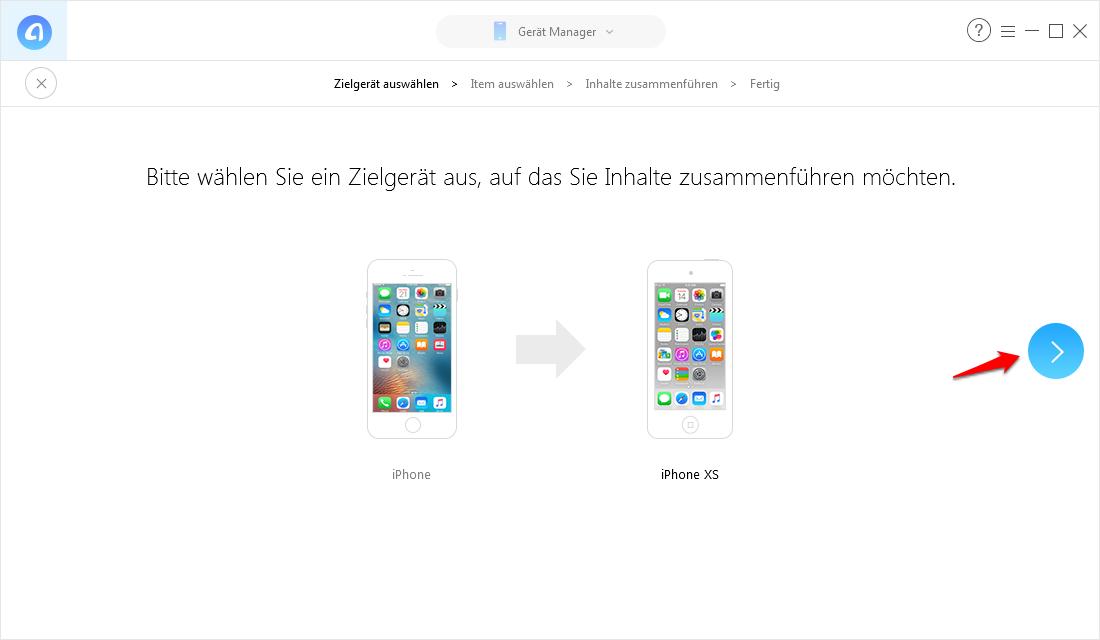 Zwei iPhones Backups zusammenführen – Schritt 4
