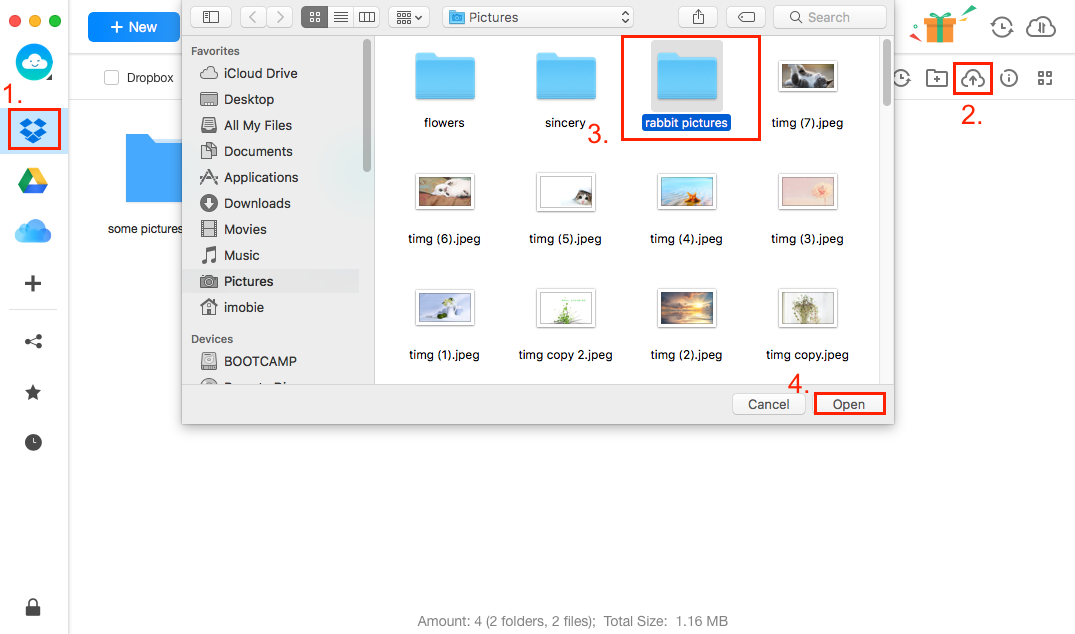 Sync Files to Dropbox with Dropbox Alternative - Step 2
