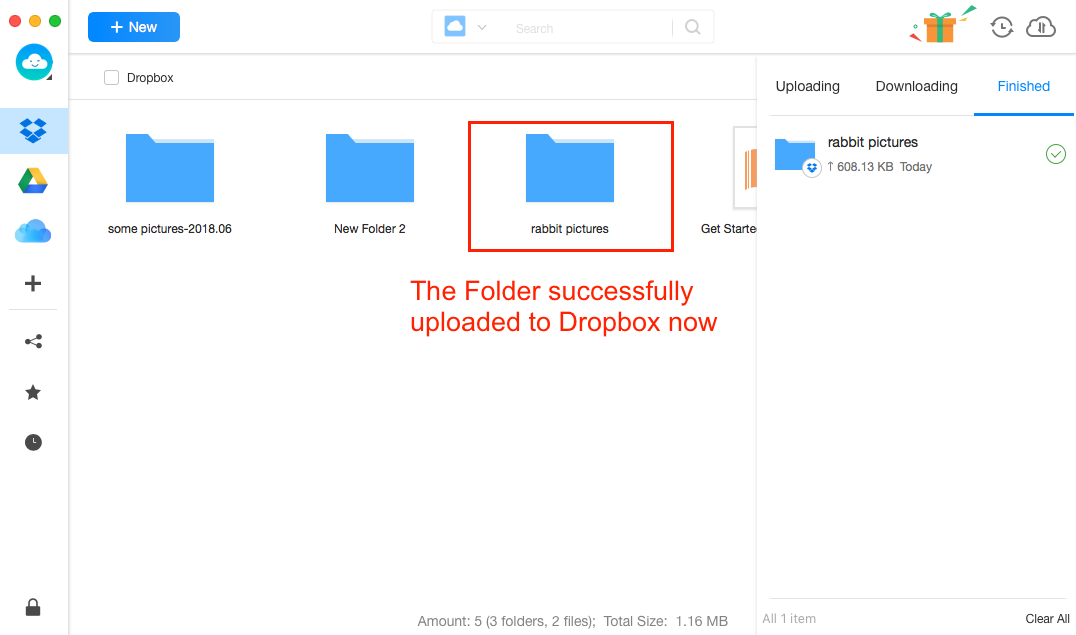 Sync Files to Dropbox with Dropbox Alternative - Step 3