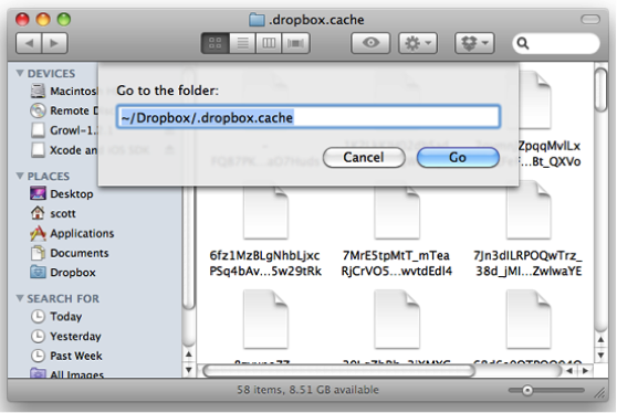 Fix Dropbox Not Syncing Files on Mac by Removing Caches