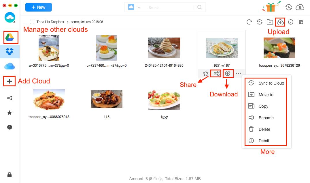 Screenshot of Dropbox Alternative - AnyTrans for Cloud