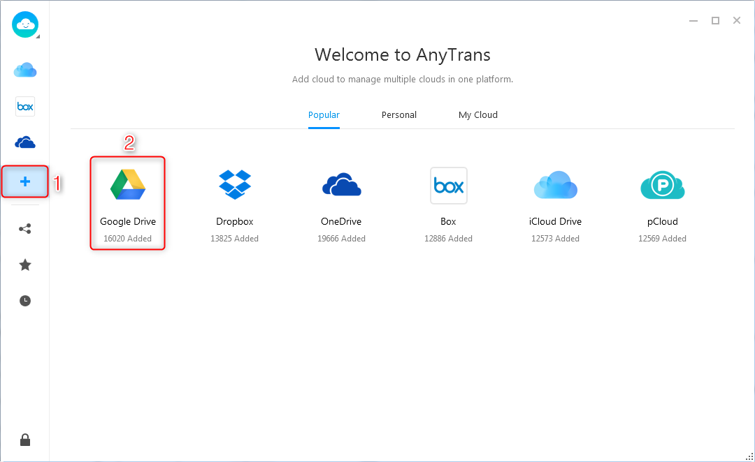 How to Fix: Google Drive Not Updating Problem with AnyTrans for Cloud - Step 2