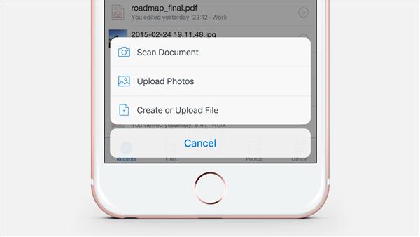 How to Add a Document to Dropbox via App – Step 3