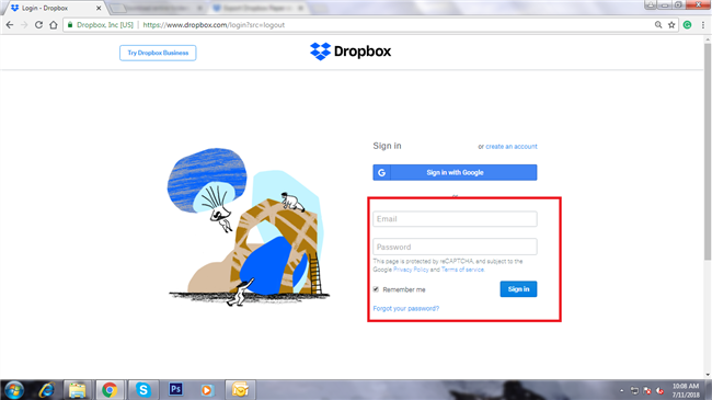 How to Download Documents from Dropbox via Website-Step 1
