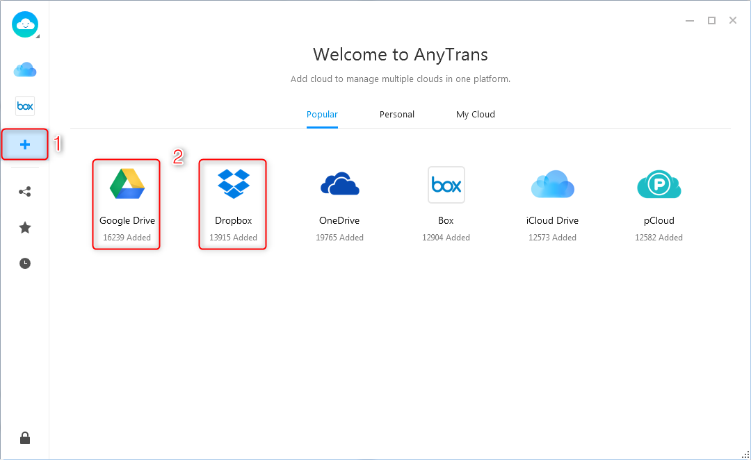 How to Download Files from Google Drive to Other Cloud Brands - Step 2