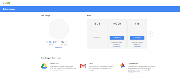 How to Fix Google Drive Down - Check Your Storage Amount
