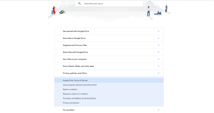 How to Fix Google Drive Down - Check for Terms