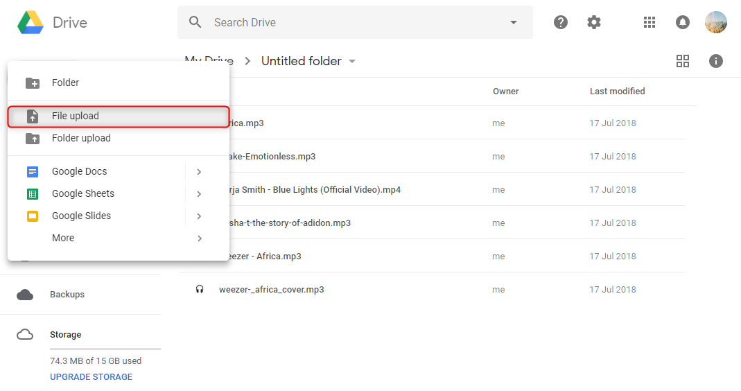 How to Upload Video to Google Drive from Computer – Step 2