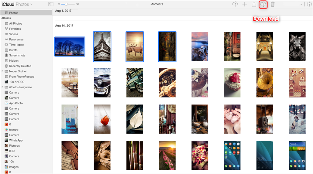 Transfer Photos from iCloud to Google Drive - Step 2