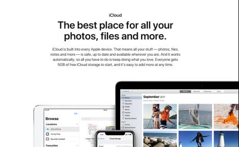 OneDrive Alternative 2018 – iCloud