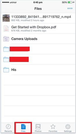 Save Dropbox Video to iPhone iPad Using Dropbox App - Step 1