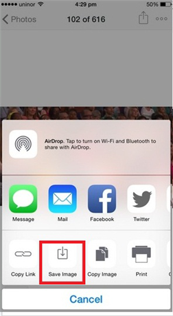 Save Dropbox Video to iPhone iPad Using Dropbox App - Step 3