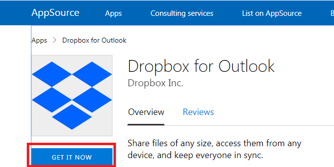 How to Save Email Documents to Dropbox – Step 2