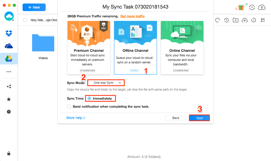 How to Sync Google Drive to OneDrive Directly - Step 4
