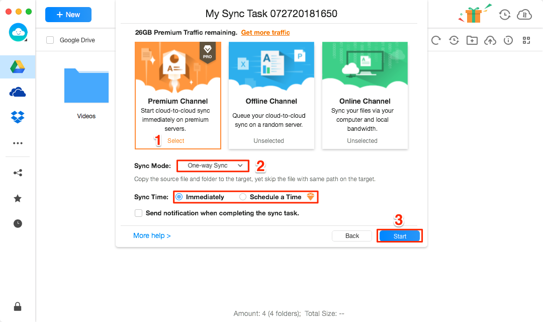 How to Sync Google Drive with Dropbox -Step 4