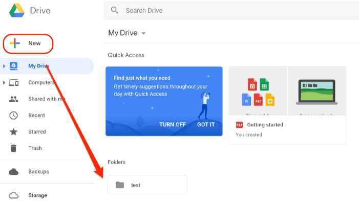 How to Transfer Files from Dropbox to Google Drive – Step 2