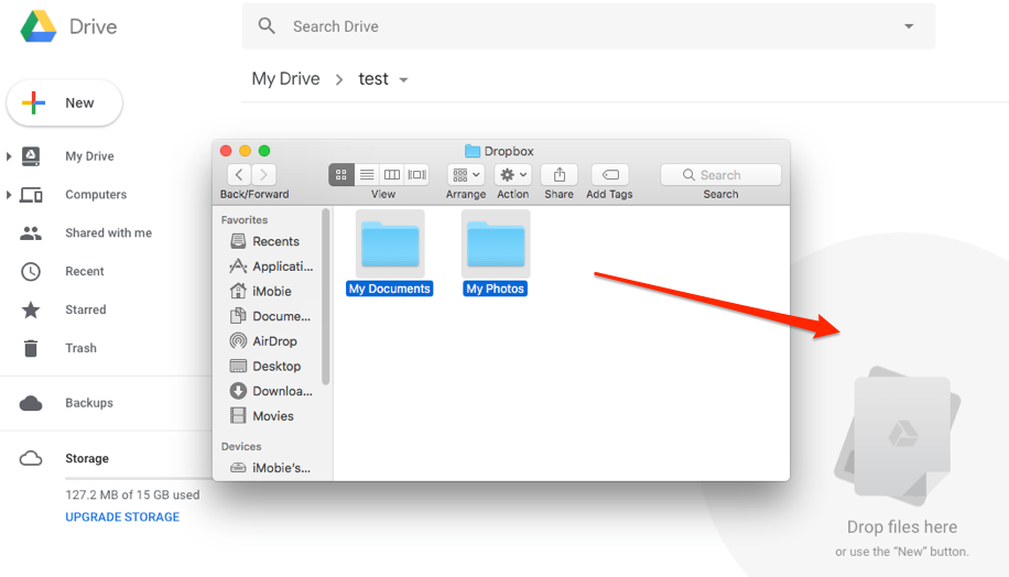 How to Transfer Files from Dropbox to Google Drive – Step 3
