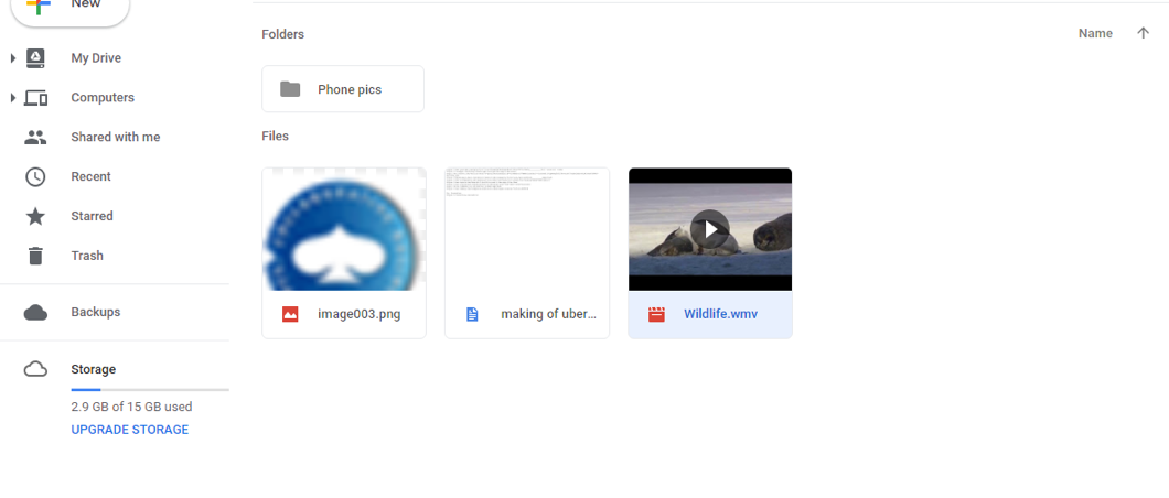Transfer Movies from Google Drive to Computer via the Official Site – Step 2