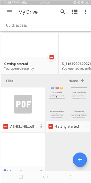 How to Upload Photos to Google Drive from Android Phone via Direct Upload- Step 2