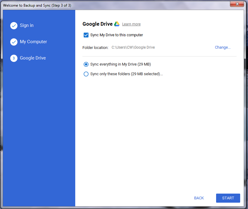 How to Backup and Sync Photos from Google Drive to Laptop - Step 5