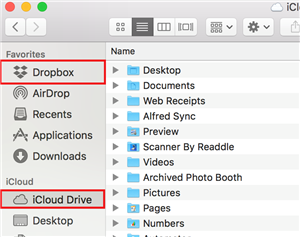 How to Transfer Photos from iCloud to Dropbox via iCloud - Step 4