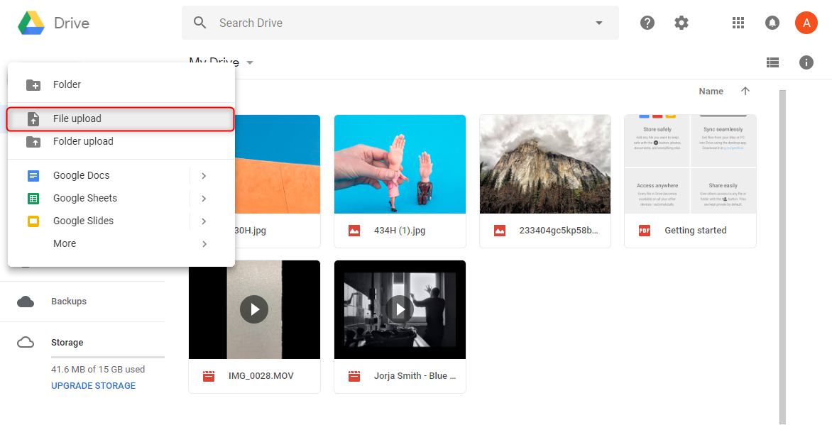 How to Transfer Photos from Laptop to Google Drive via Google Drive Website – Step 2