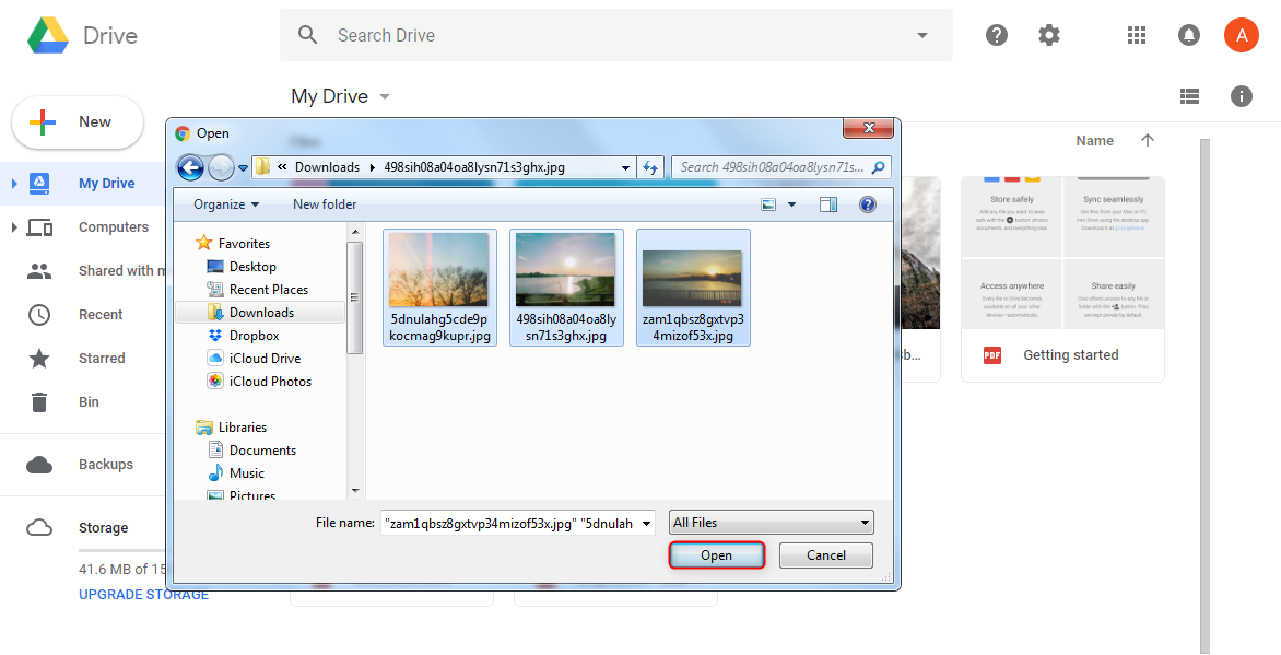 How to Transfer Photos from Laptop to Google Drive via Google Drive Website – Step 3