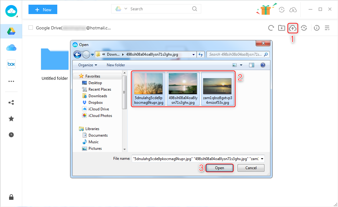 How to Transfer Photos from Laptop to Google Drive via AnyTrans for Cloud – Step 3