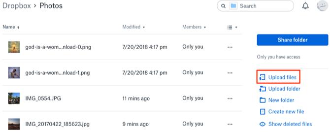 Transfer Photos from Mac to Dropbox - Step 3