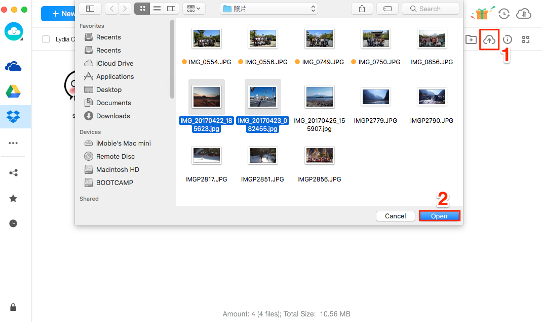Transfer Photos from Mac to Dropbox with AnyTrans for Cloud