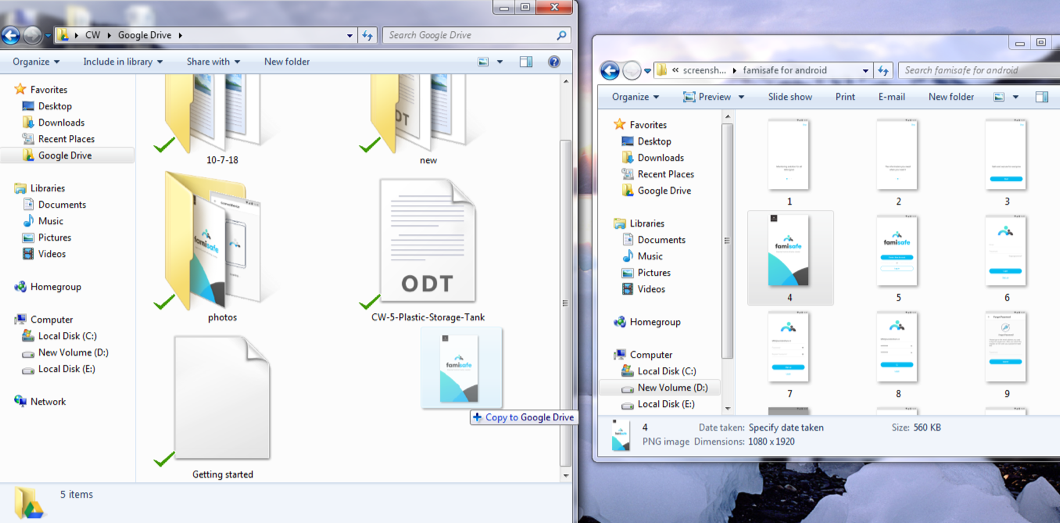 Transfer Photos from PC to Google Drive by Syncing - Step 2