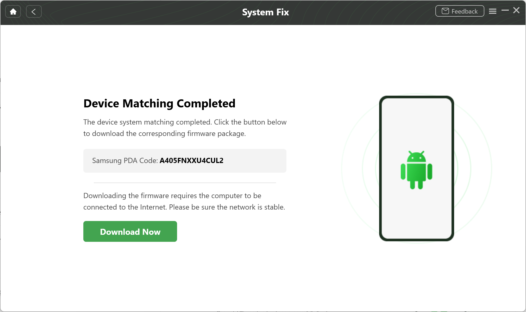 Device Matching Completed