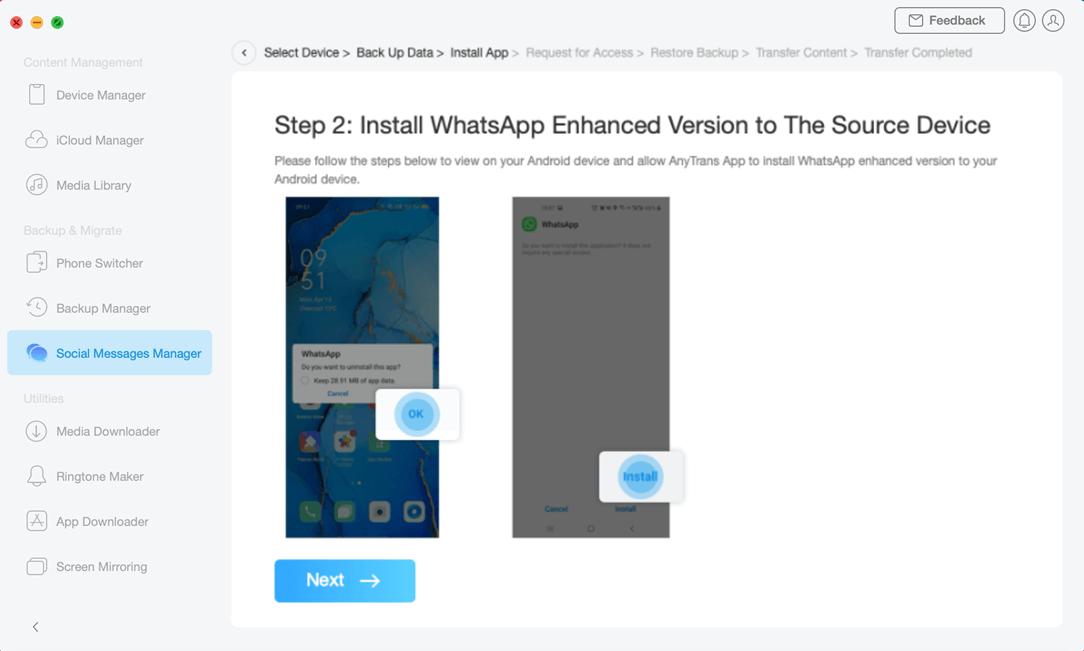BInstall WhatsApp Enhanced Version
