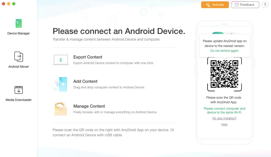 Connecting Android Device