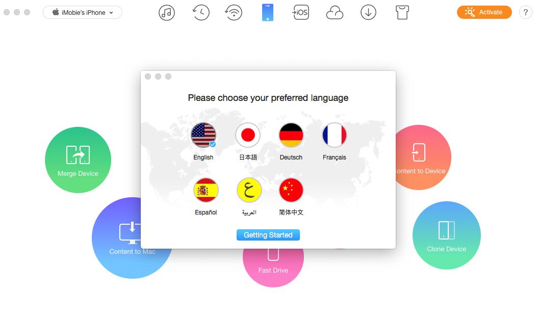 Choose Prefered Language
