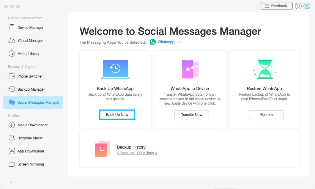 Back up Social Messages -3