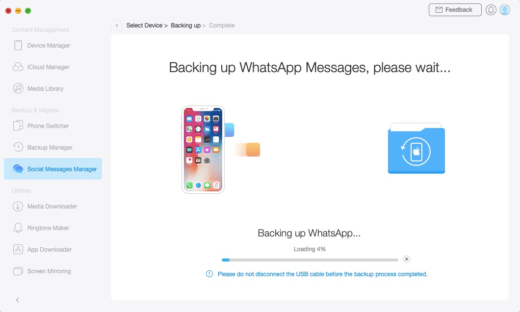 Back up Social Messages - 5