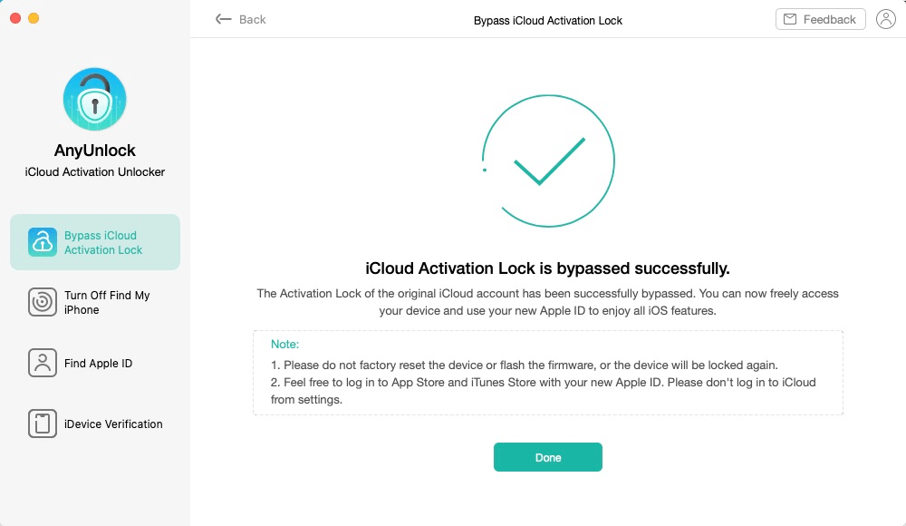 iCloud Activation Lock Bypassed Successfully