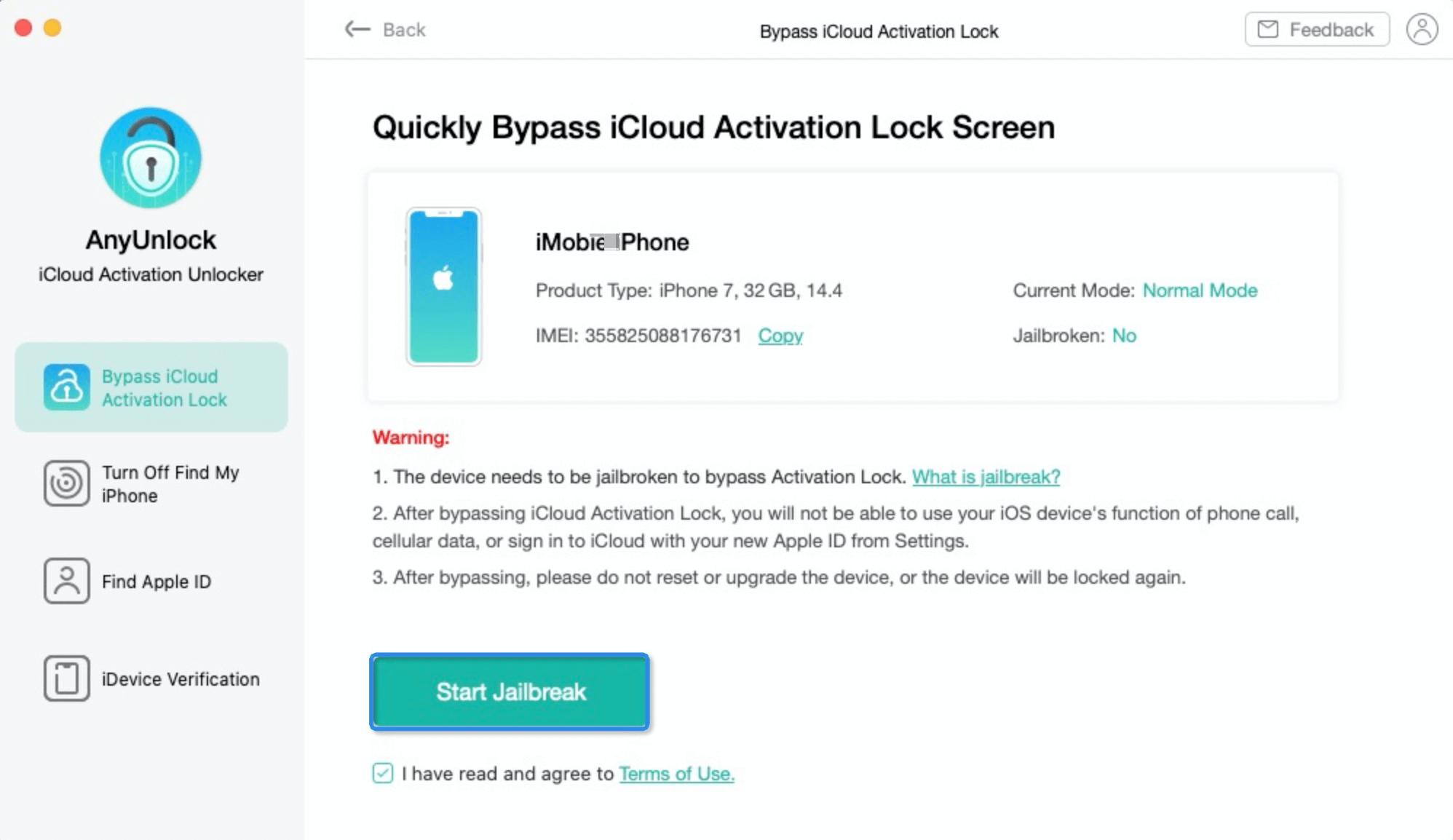 Quick Bypass iCloud Activation Lock Screen interface