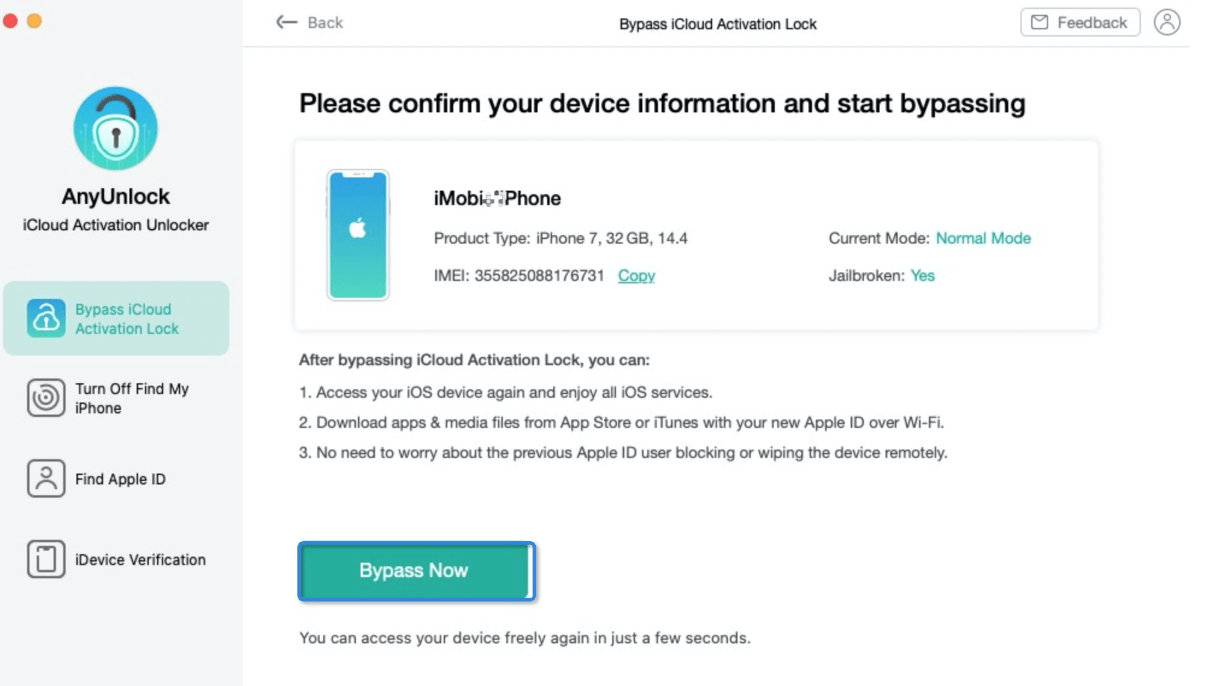 Confirm Your Device Info