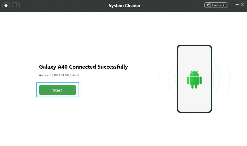 Android Device Connected Successfully
