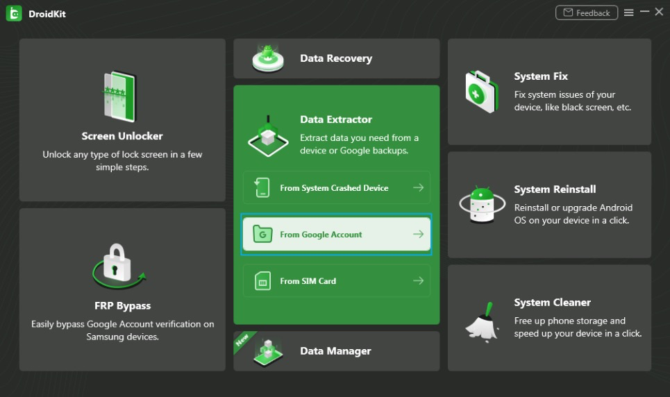 Extract Needed Data from Google Account